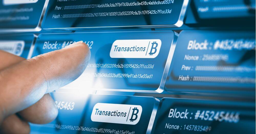 Représentation visuelle de l'envoi de Bitcoins