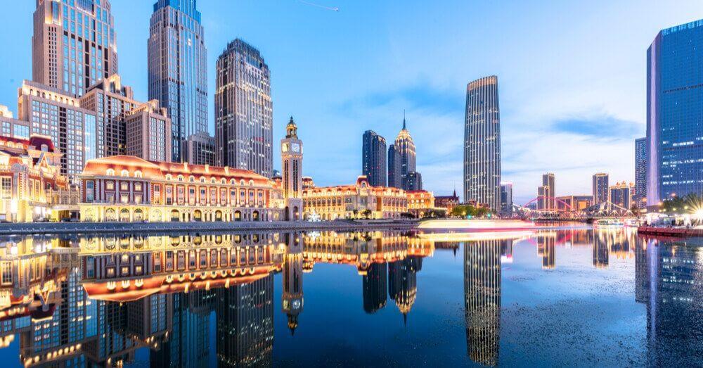 Image of the Tianjin sea river, China