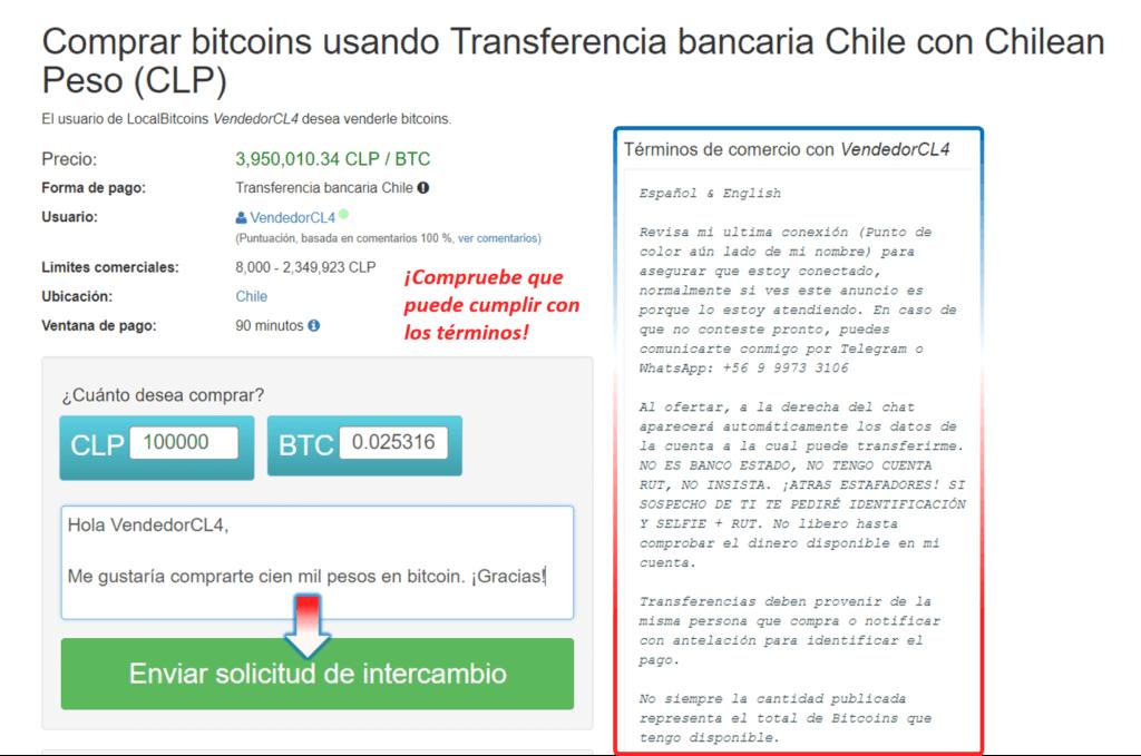 Ejemplo de compra BTC en LocalBitcoins