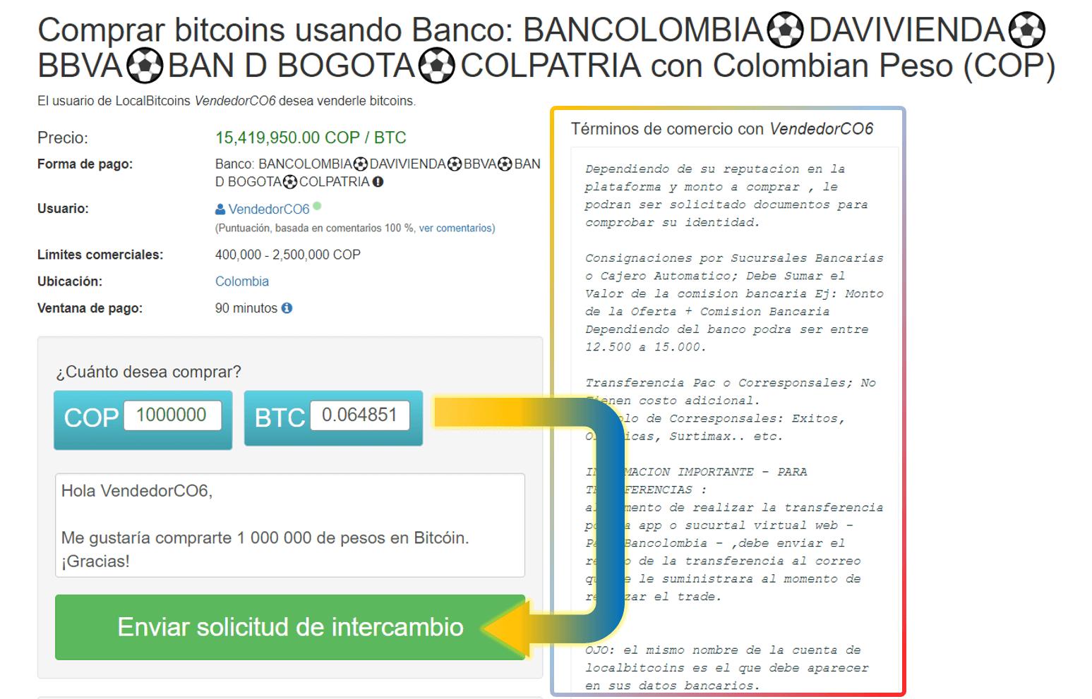 Ejemplo compra LocalBitcoins