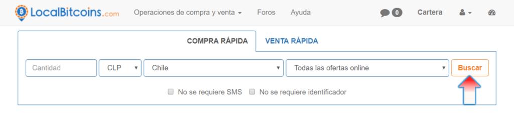 Buscar vendedores LocalBitcoins Chile
