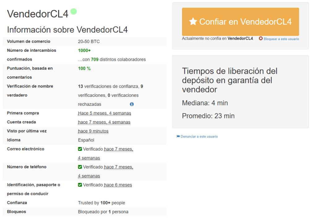 Ejemplo vendedor LocalBitcoins Chile