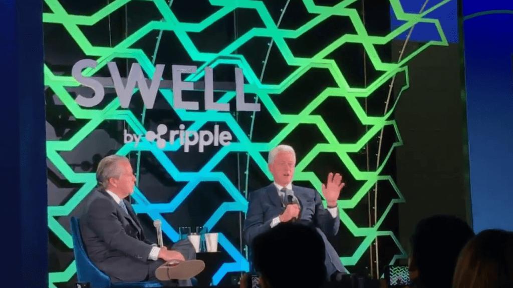 Bill Clinton participa en conferencia ripple