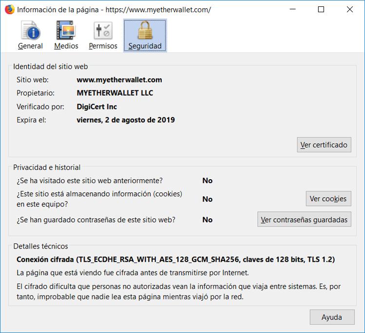 Certificado SSL MEW