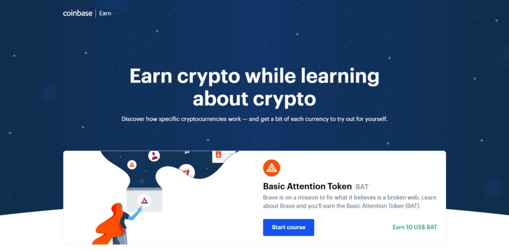 Coinbase earn página