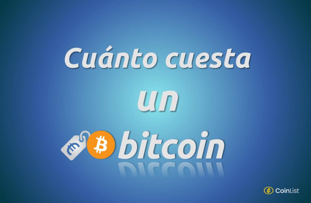 Cuánto cuesta un bitcoin portada