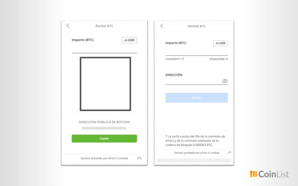 Ejemplo operaciones básicas bitcoin etoro wallet