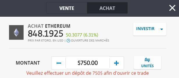Ethereum comment acheter