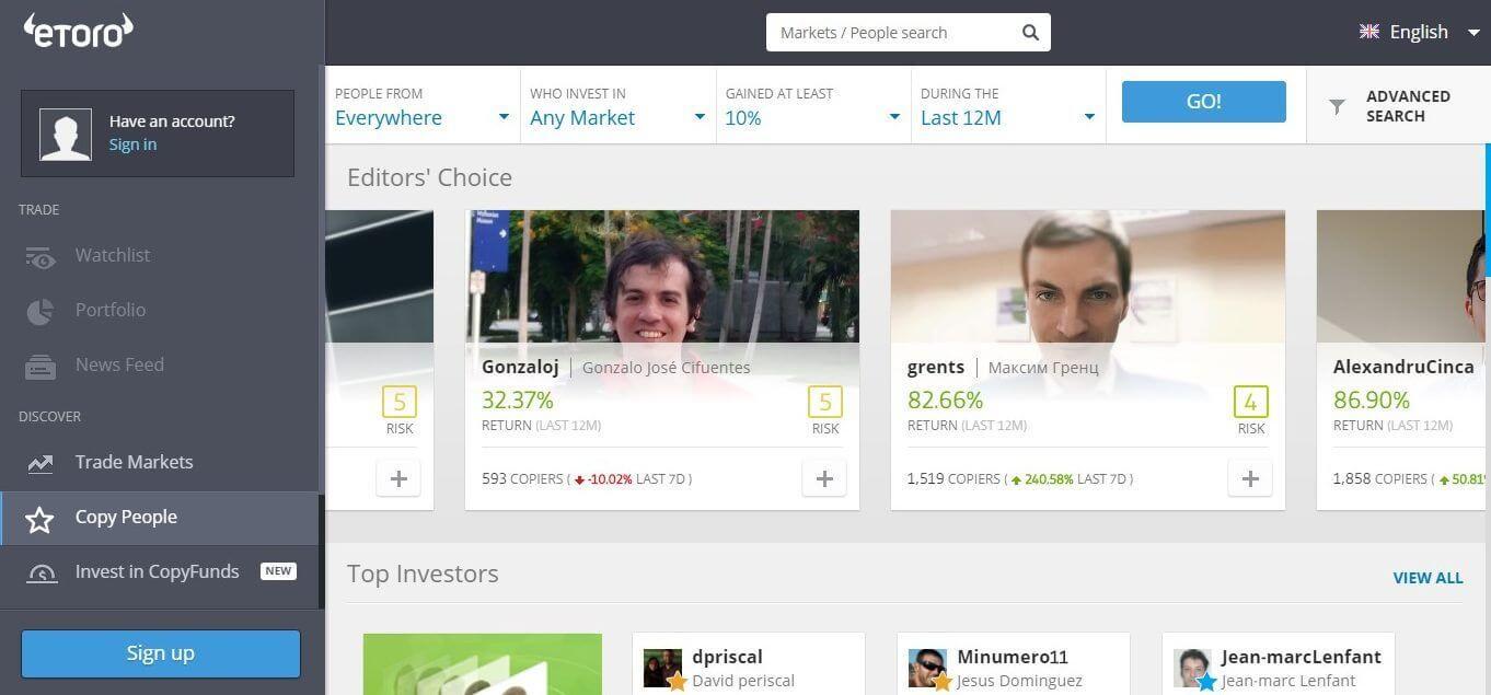 Etoro Cryptocurrency Exchange