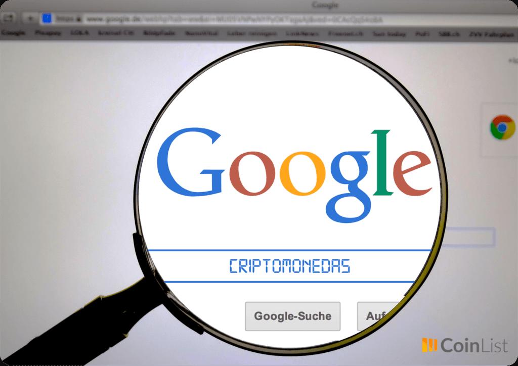 Google cesa prohibición criptomonedas