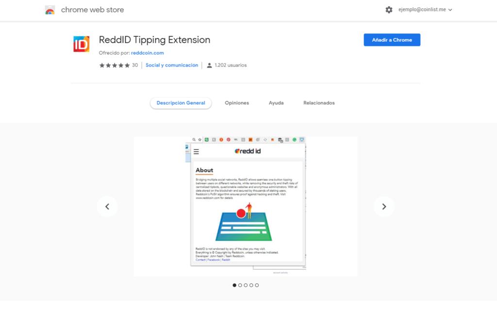 Instalar ReddID Google Chrome