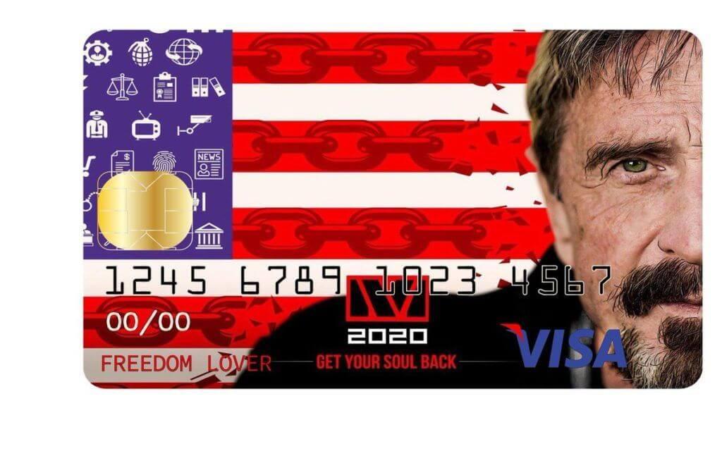 John McAfee Crypto Card