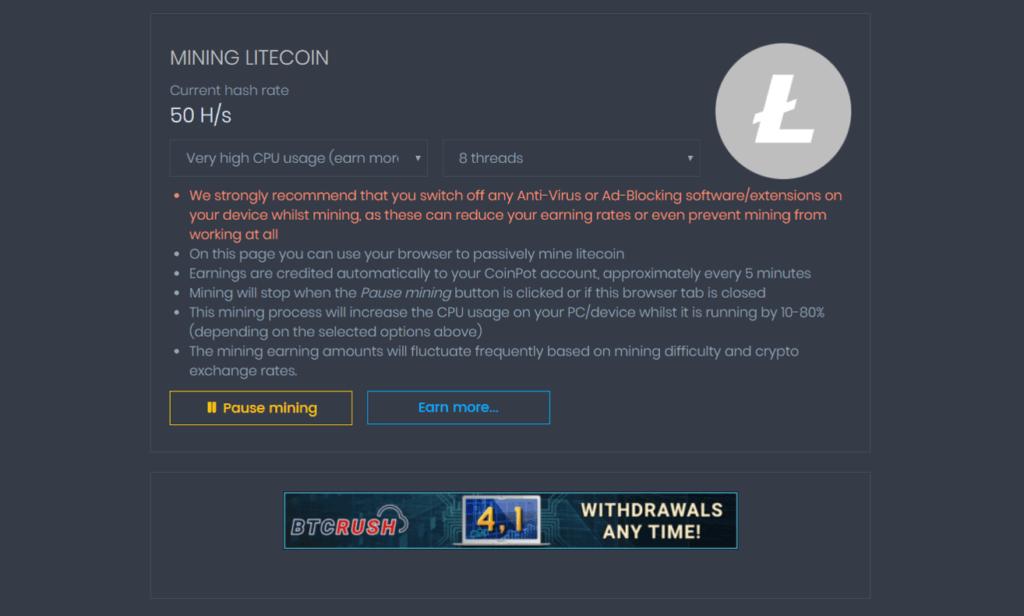 Mine Litecoin