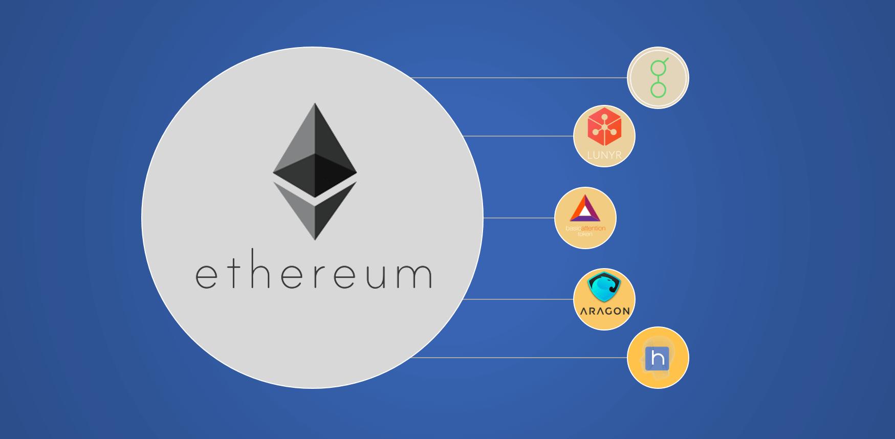 Monedas basadas en el blockchain de Ethereum