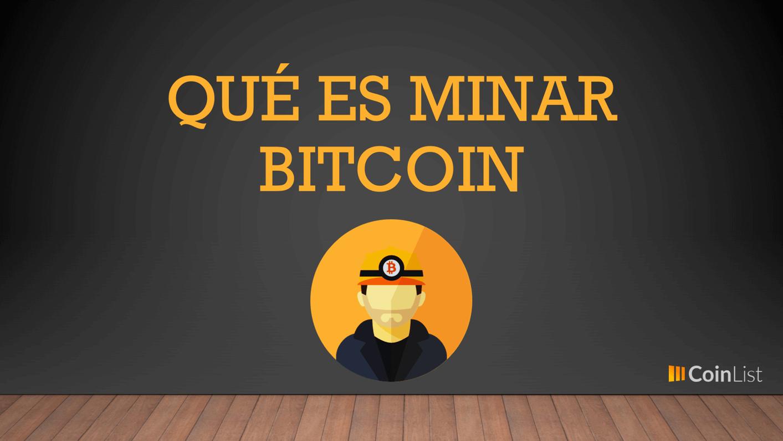 Que es minar bitcoins definition history las vegas dunes casino sports betting