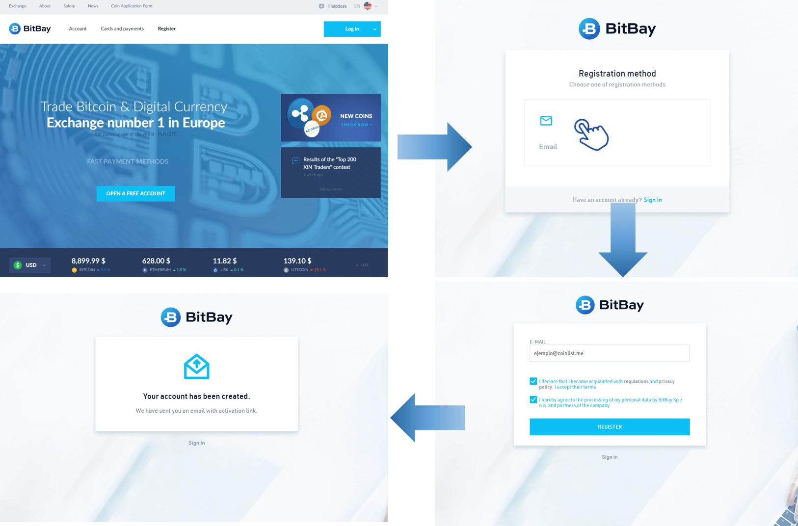 Registro en BitBay