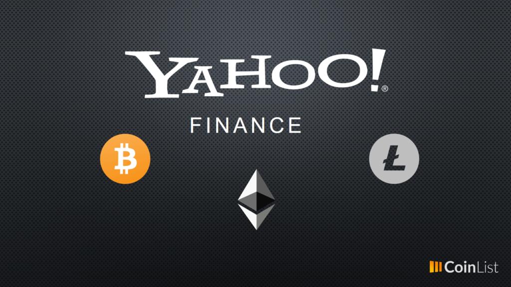 Yahoo finance agrega bitcoin, ethereum y litecoin
