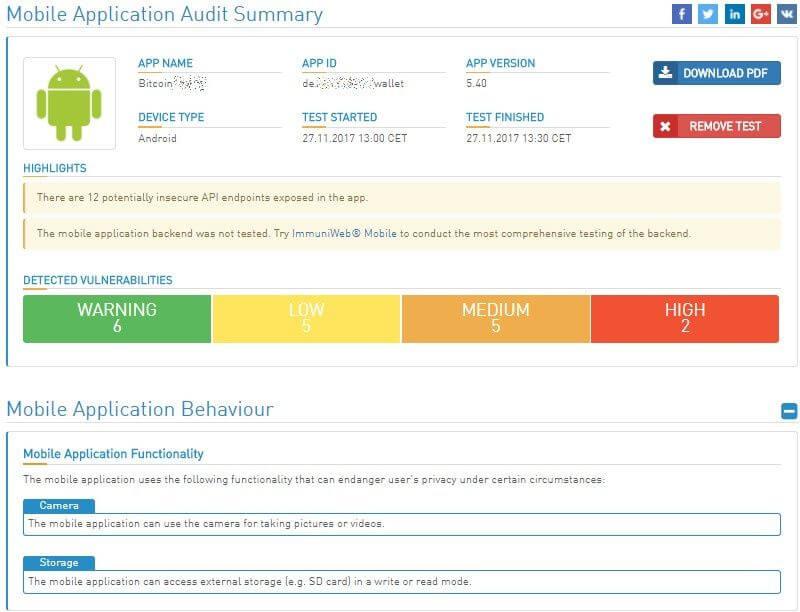 Bitcoin wallet mobile audit