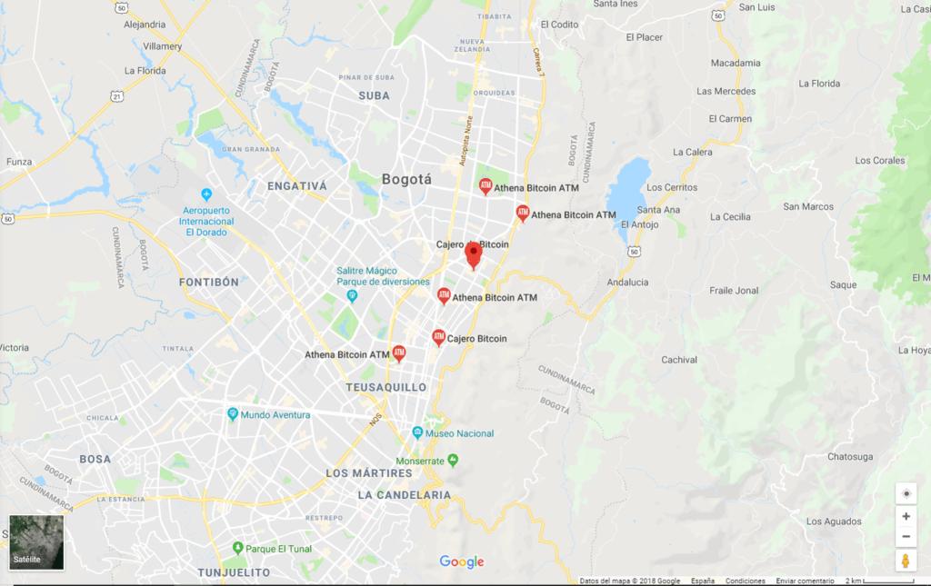cajeros bitcoin en Bogotá