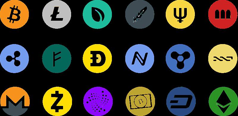 Collection de cryptomonnaies