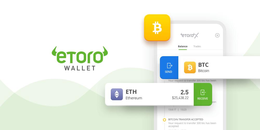 eToro wallet promotional ad