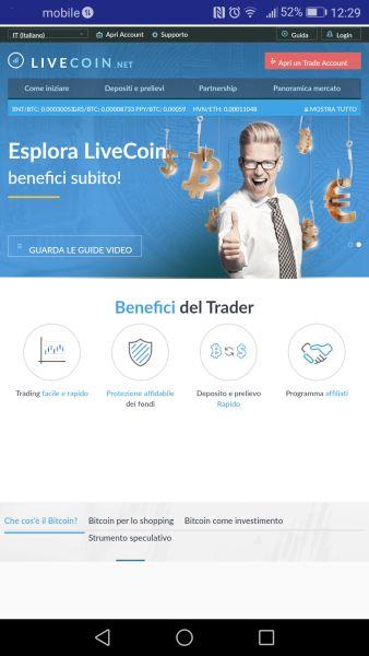 Livecoin exchange app