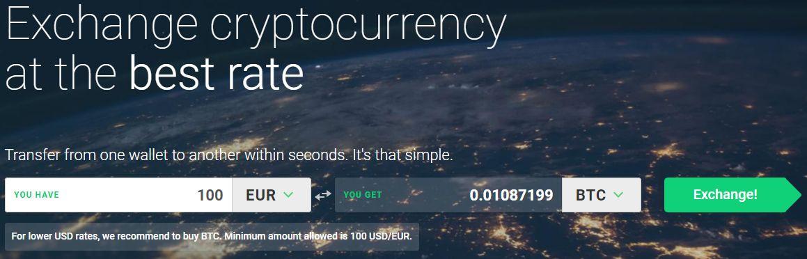 Scambiare euro per Bitcoin su Changelly