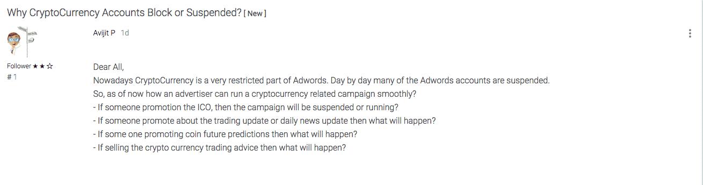 sospensione account adwords
