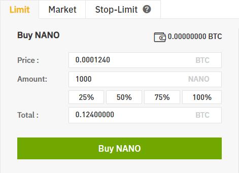nano binance nano coin value