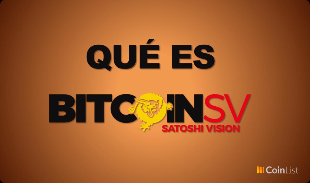 Qué es bitcoin SV