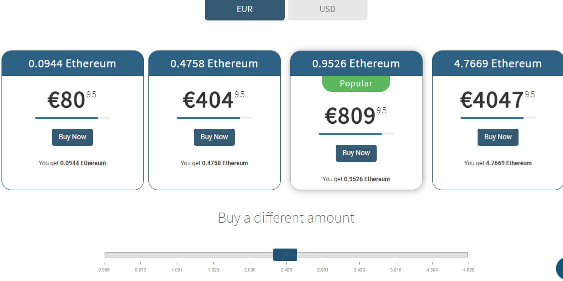Acquista ethereum su Coinmama