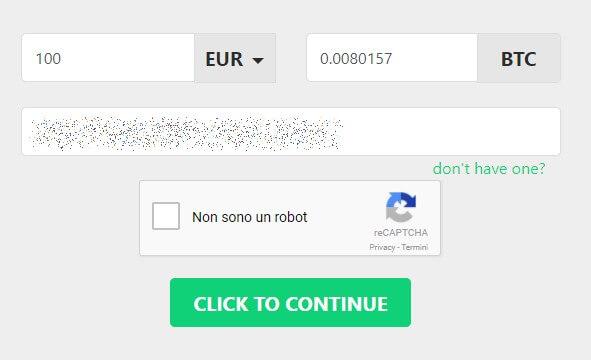 Acquisto bitcoin Changelly