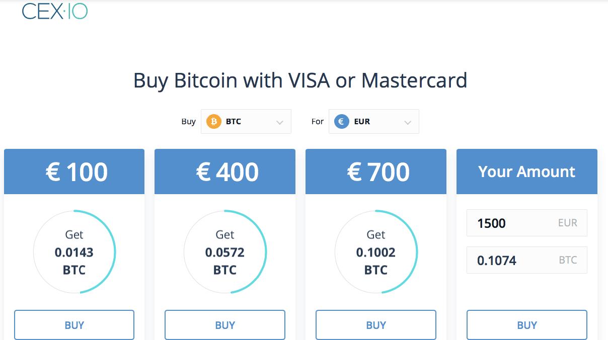 comprare bitcoin su cex.io