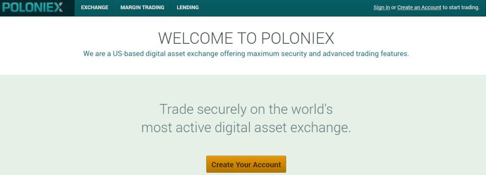Crea account su Poloniex