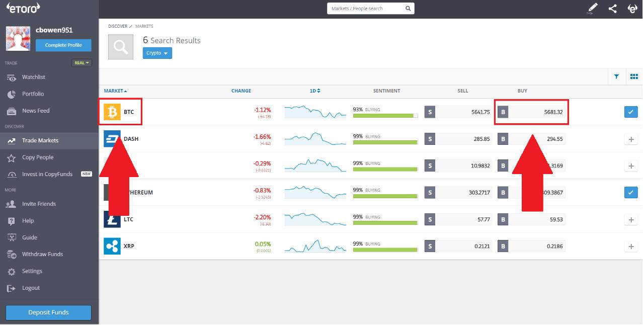 eToro - Buy Bitcoin