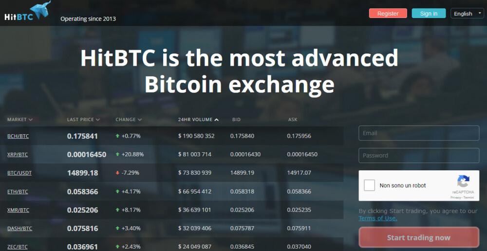 siacoin hitbtc deposito acquista la carta di credito virtuale con bitcoin