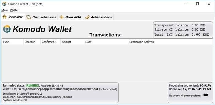 komodo wallet