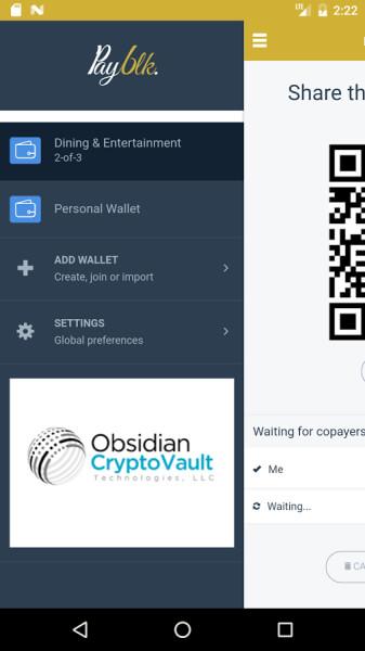 Payblk blackcoin wallet mobile