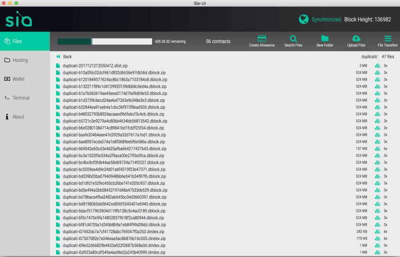 Wallet Siacoin desktop