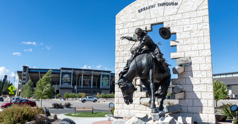 Statua presso l'Università del Wyoming